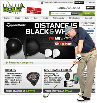 golf website development